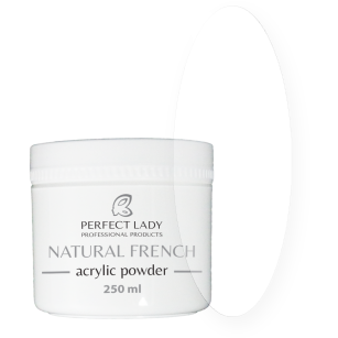 NATURAL FRENCH ACRYLIC POWDER Super Clear 250 ml