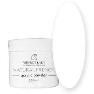 NATURAL FRENCH ACRYLIC POWDER Exlusive White 250 ml